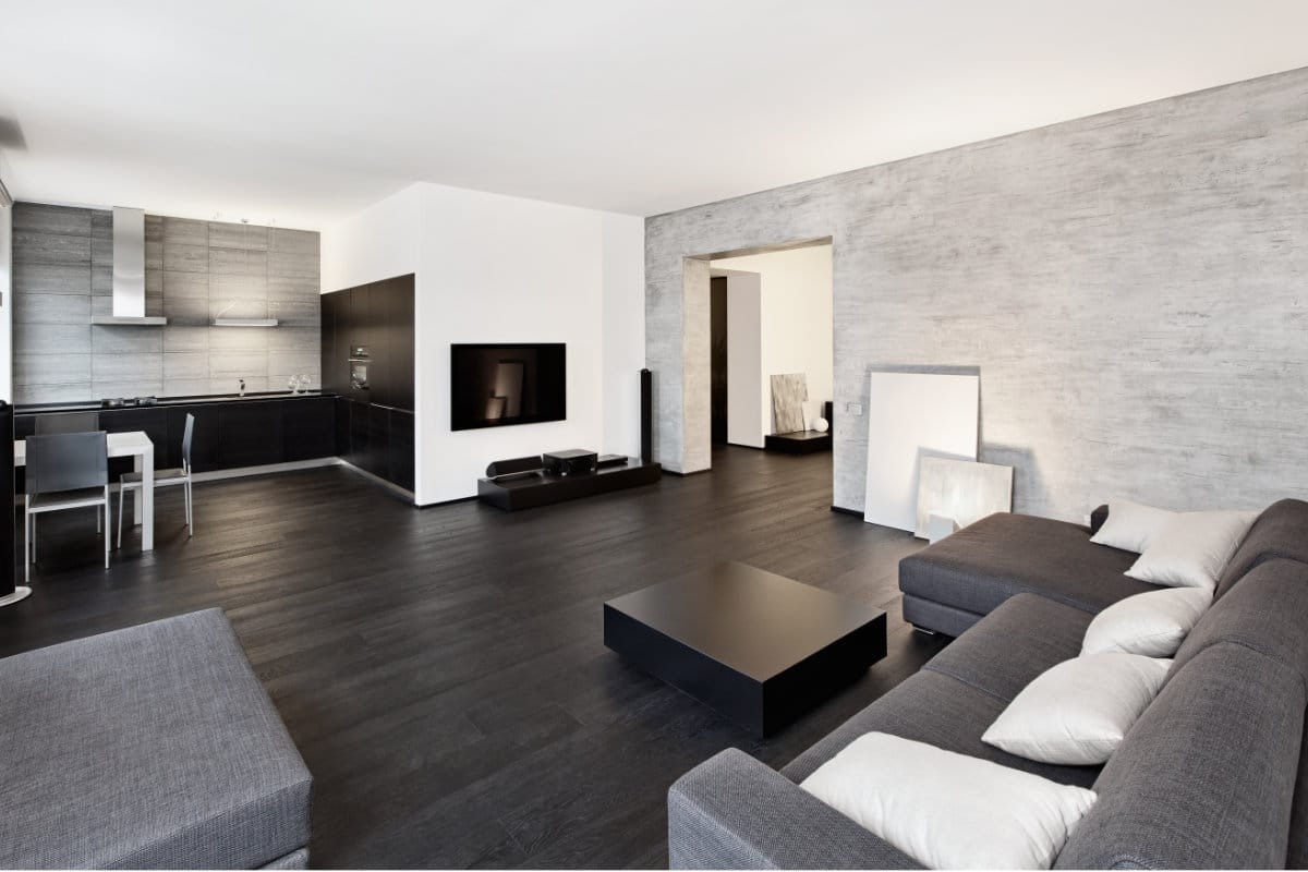 betonlook behang woonkamer - Behang Trends
